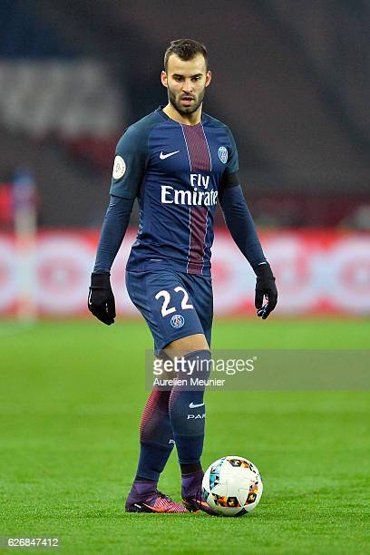 Jese Rodriguez of Paris SaintGermain runs with the ball during the Ligue 1 match between Paris SaintGermain and Angers SCO at Parc des Princes on...