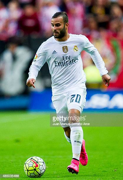 Jese Rodriguez of Real Madrid controls the ball during the La Liga match between Sporting Gijon and Real Madrid at Estadio El Molinon on August 23...
