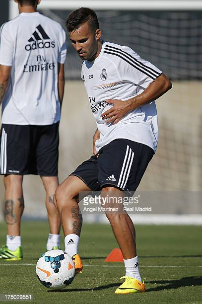 Jese Rodriguez of Real Madrid in action during a training session at UCLA Campus on July 29 2013 in Los Angeles California