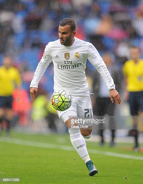 Jese Rodriguez of Real Madrid in action during the La Liga match between Real Madrid CF and Levante UD at estadio Santiago Bernabeu on October 17...