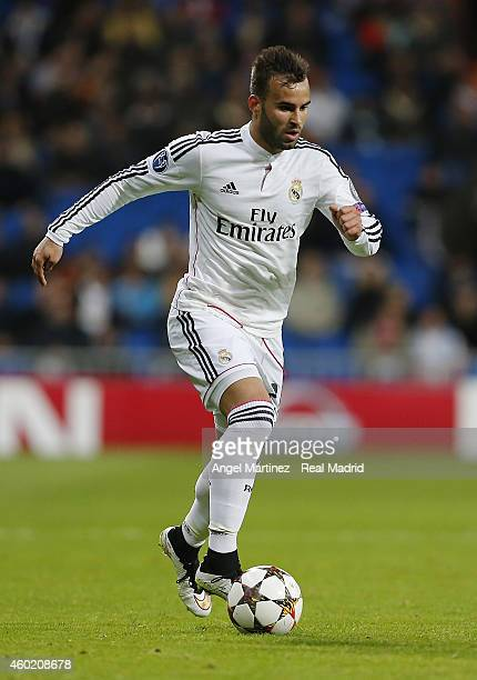 Jese Rodriguez of Real Madrid in action during the UEFA Champions League Group B match between Real Madrid CF and PFC Ludogorets Razgrad at Estadio...