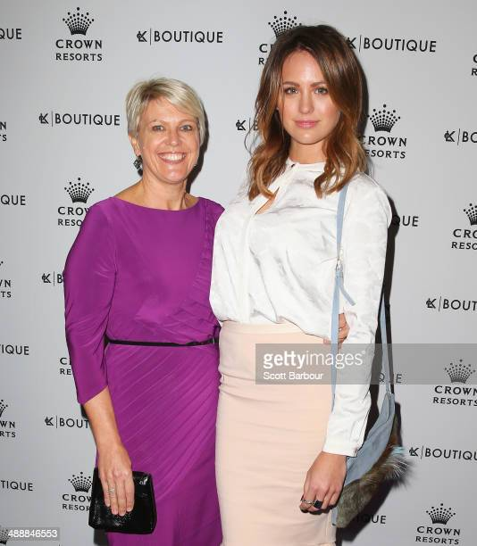 Jesinta Campbell and her mother Valerie arrive at Crown's Celebrity Mother's Day Luncheon at Crown on May 9 2014 in Melbourne Australia