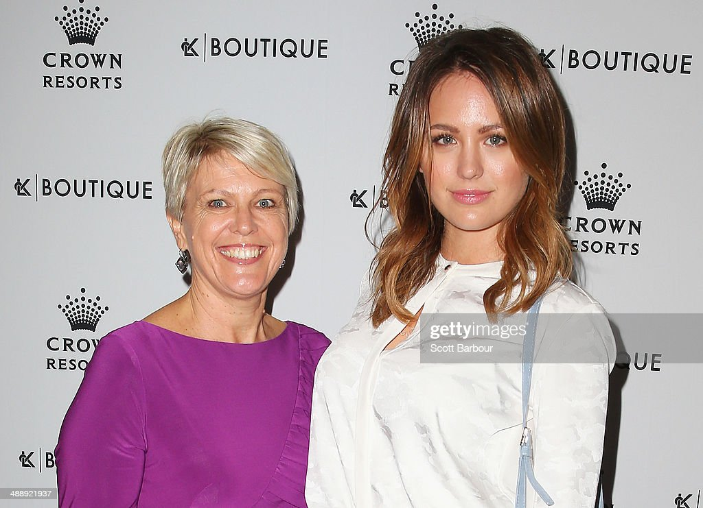 <a gi-track='captionPersonalityLinkClicked' href=/galleries/search?phrase=Jesinta+Campbell&family=editorial&specificpeople=7056645 ng-click='$event.stopPropagation()'>Jesinta Campbell</a> and her mother Valerie arrive at Crown's Celebrity Mother's Day Luncheon at Crown on May 9, 2014 in Melbourne, Australia.