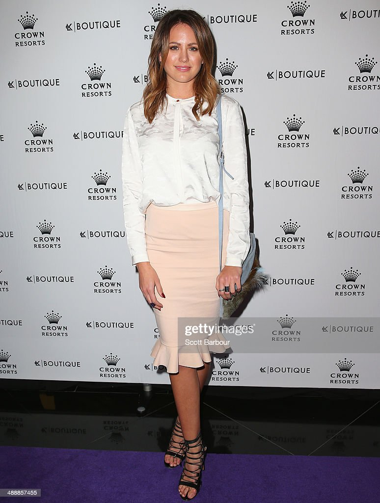 Jesinta Campbell arrives at Crown's Celebrity Mother's Day Luncheon at Crown on May 9 2014 in Melbourne Australia