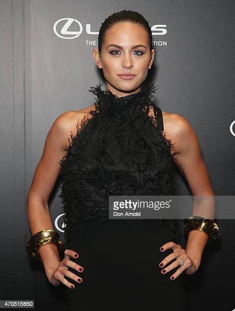 Jesinta Campbell arrives at the 2015 Prix de Marie Claire Awards at Fox Studios on April 21 2015 in Sydney Australia