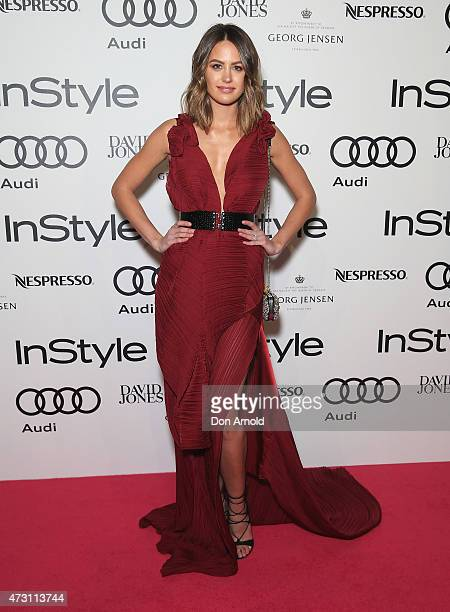 Jesinta Campbell arrives at the 2015 Women Of Style Awards at Carriageworks on May 13 2015 in Sydney Australia