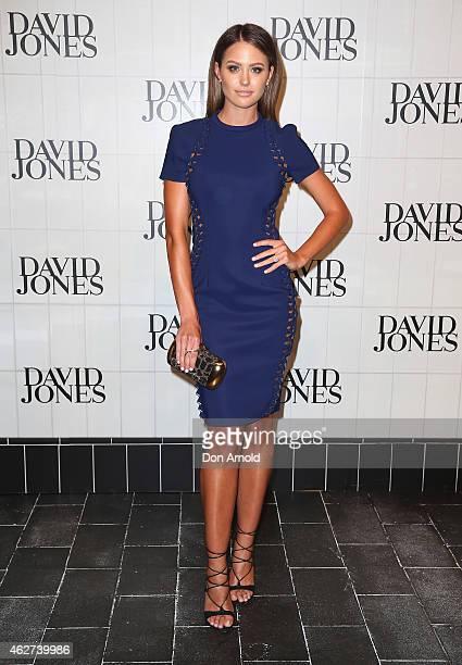 Jesinta Campbell arrives at the David Jones Autumn/Winter 2015 Collection Launch at David Jones Elizabeth Street Store on February 4 2015 in Sydney...