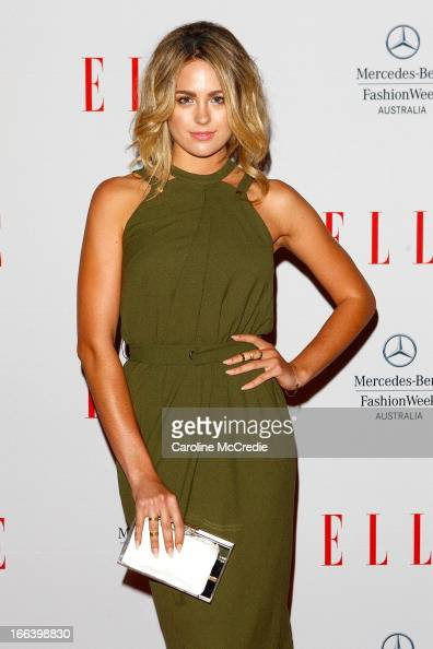 Jesinta Campbell arrives at the Hello Elle Australia show during MercedesBenz Fashion Week Australia Spring/Summer 2013/14 at Carriageworks on April...