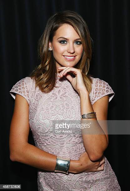 Jesinta Campbell arrives at the launch of Joico Australia's Turning Heads initiative at Our Golden Age Cinema and Bar on November 10 2014 in Sydney...