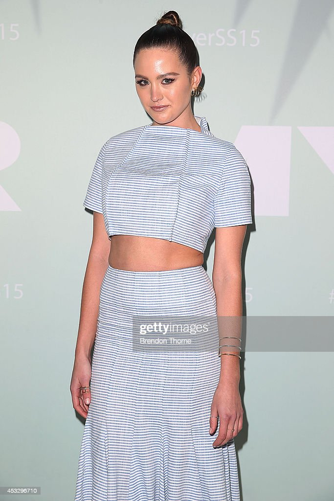 <a gi-track='captionPersonalityLinkClicked' href=/galleries/search?phrase=Jesinta+Campbell&family=editorial&specificpeople=7056645 ng-click='$event.stopPropagation()'>Jesinta Campbell</a> arrives at the Myer Spring Summer 2014 Fashion Launch at Carriageworks on August 7, 2014 in Sydney, Australia.