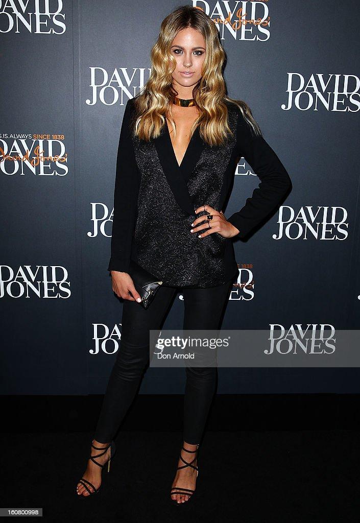 Jesinta Campbell arrives for the David Jones A/W 2013 Season Launch at David Jones Castlereagh Street on February 6, 2013 in Sydney, Australia.