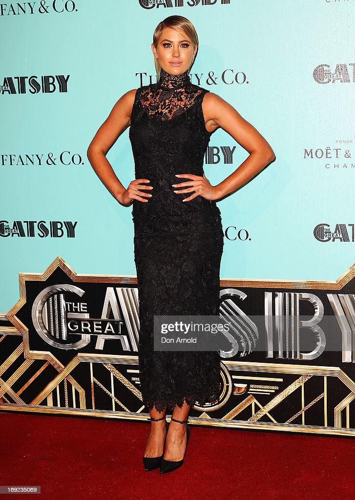 <a gi-track='captionPersonalityLinkClicked' href=/galleries/search?phrase=Jesinta+Campbell&family=editorial&specificpeople=7056645 ng-click='$event.stopPropagation()'>Jesinta Campbell</a> arrives for the Sydney premiere of The Great Gatsby at Moore Park on May 22, 2013 in Sydney, Australia.