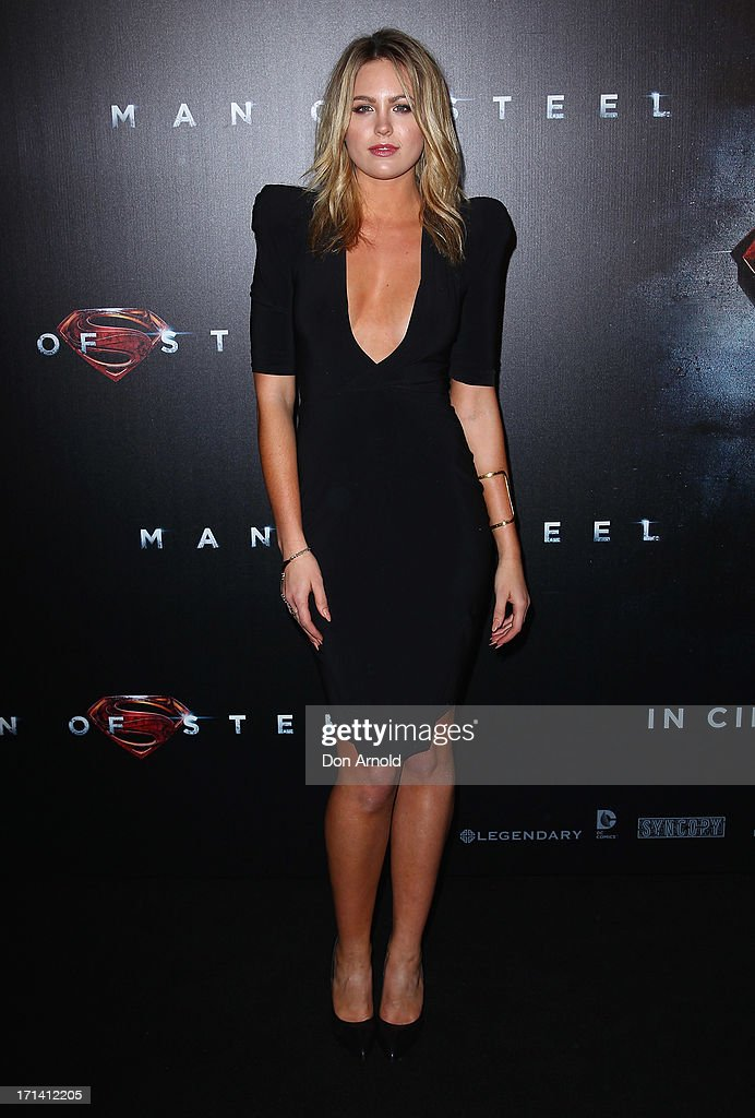 <a gi-track='captionPersonalityLinkClicked' href=/galleries/search?phrase=Jesinta+Campbell&family=editorial&specificpeople=7056645 ng-click='$event.stopPropagation()'>Jesinta Campbell</a> attends the 'Man Of Steel' Australian Premiere at Event Cinemas, George Street on June 24, 2013 in Sydney, Australia.
