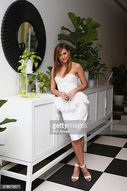 Jesinta Campbell poses at the Foxtel Presto launch at the Ivy on March 12 2014 in Sydney Australia