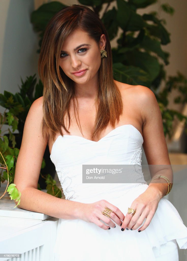 <a gi-track='captionPersonalityLinkClicked' href=/galleries/search?phrase=Jesinta+Campbell&family=editorial&specificpeople=7056645 ng-click='$event.stopPropagation()'>Jesinta Campbell</a> poses at the Foxtel Presto launch at the Ivy on March 12, 2014 in Sydney, Australia.
