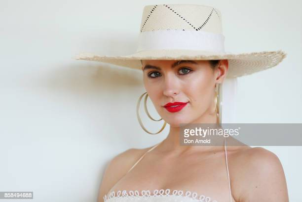 Jesinta Franklin attends Moet Chandon Spring Champion Stakes Day at Royal Randwick Racecourse on October 7 2017 in Sydney Australia