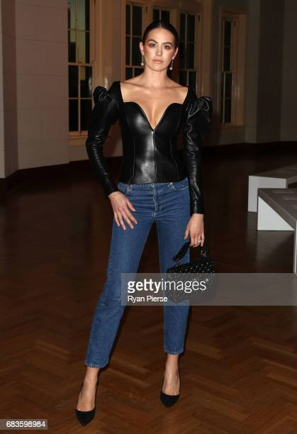Jesinta Franklin attends the Bec Bridge show at MercedesBenz Fashion Week Resort 18 Collections at Seven at David Jones on May 16 2017 in Sydney...