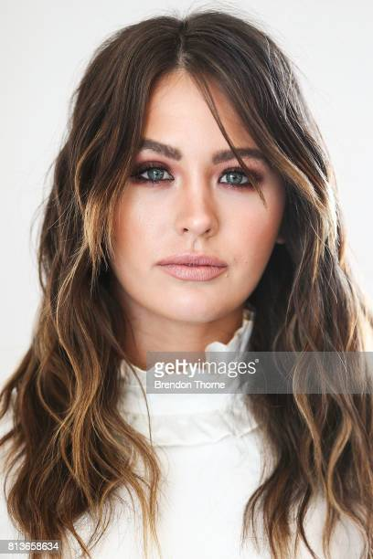 Jesinta Franklin poses during the David Jones Spring Summer 17 Collections Launch Model Casting on July 13 2017 in Sydney Australia