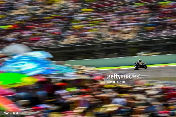 Jesko Raffin of Switzerland and Garage Plus Interwetten rides during the Moto2 of Catalunya at Circuit de Catalunya on June 11 2017 in Montmelo Spain