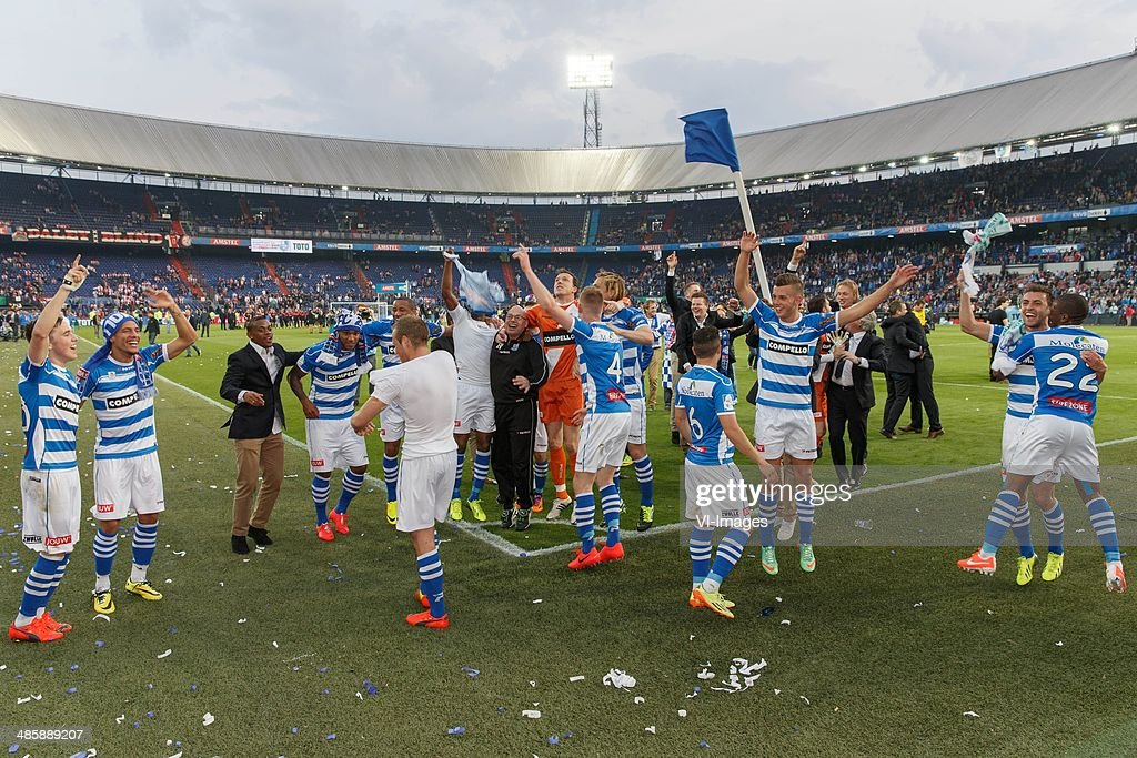 Jesper Drost of Pec Zwolle during the Dutch Cup final match between Pec Zwolle and Ajax Amsterdam on April 20 2014 at the Kuip stadium in Rotterdam...