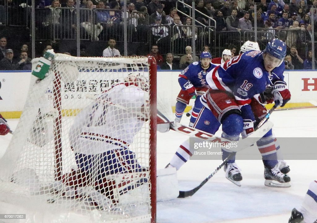... Jersey Home Royal Blue Road Jesper Fast 19 of the New York Rangers  scores in the first period against Carey ... 486bb2ba6