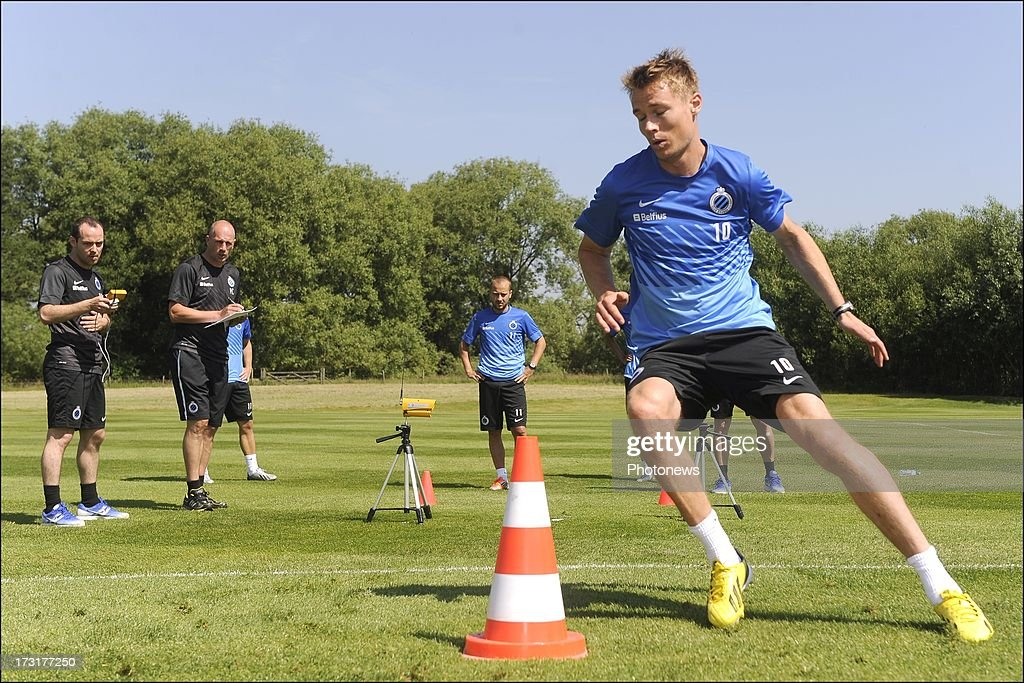 Jesper Jorgensen of Club Brugge KV in action during the second day of a Club Brugge summer camp training session on July 9, 2013 in Manchester, England.