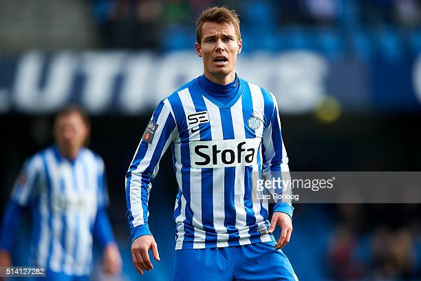 Jesper Jorgensen of Esbjerg fB the Danish Alka Superliga match between Esbjerg fB and Randers FC at Blue Water Arena on March 6 2016 in Esbjerg...