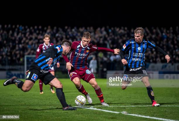 Jesper Karlstrom of Djurgardens IF with the ball during the Allsvenskan match between IK Sirius and Djurgardens IF at Studenternas IP on October 15...