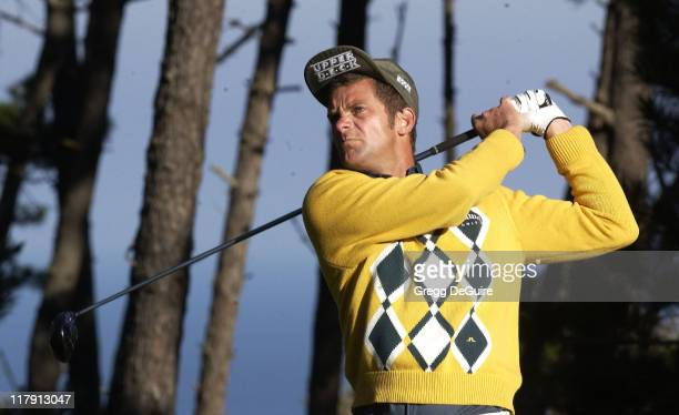 Jesper Parnevik during 2002 ATT Pebble Beach National ProAm Round 2 at Poppy Hills in Carmel California United States