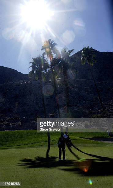 Jesper Parnevik during 44th Bob Hope Chrysler Classic Round One at Indian Wells Country Club in Indian Wells California United States