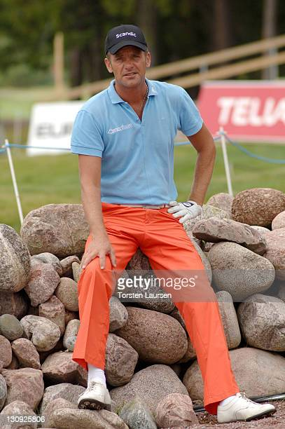 Jesper Parnevik during European Tour 2005 Scandinavian Masters Practice at Kungsängen Golf Club in Stockholm Sweden