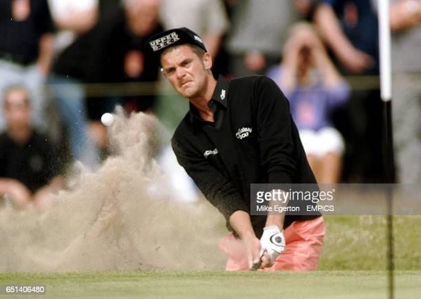 Jesper Parnevik in action during the second round