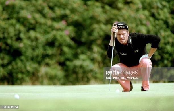 Jesper Parnevik lines up his putt