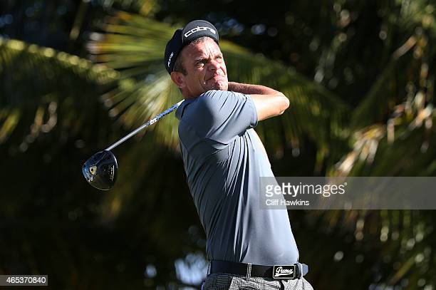 Jesper Parnevik of Sweden plays his shot from the 13th tee during round two of the Puerto Rico Open presented by Banco Popular on March 6 2015 in Rio...
