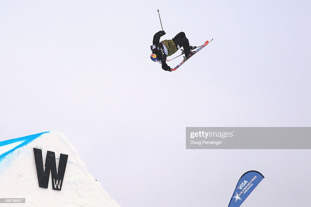 Jesper Tjader of Sweden competes in the finals of the men's FIS Slopestyle Ski World Cup at the US Snowboarding and Freeskiing Grand Prix on December...