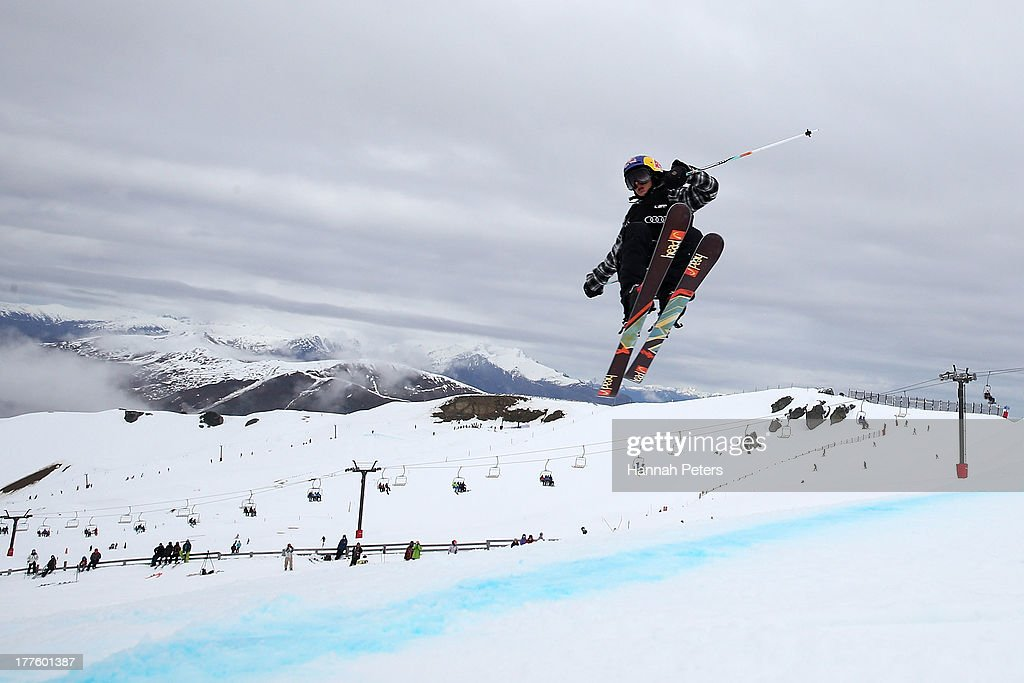 Jesper Tjader of Sweden competes in the FIS Freestyle Ski Slopestyle World Cup Finals during day 11 of the Winter Games NZ at Cardrona Alpine Resort on August 25, 2013 in Wanaka, New Zealand.