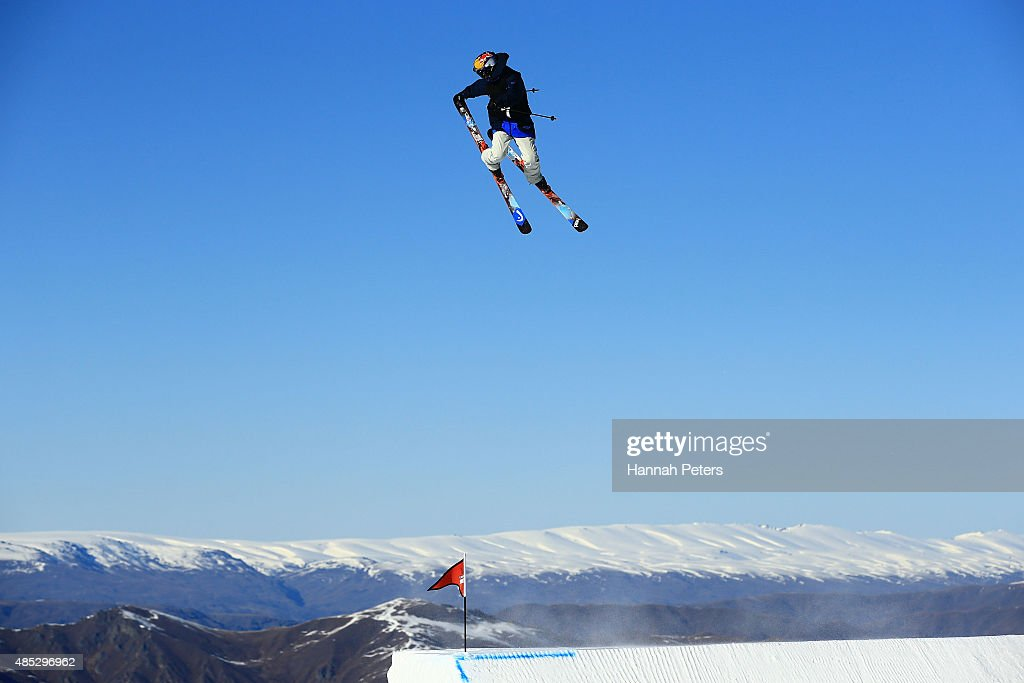 Jesper Tjader of Sweden competes in the FIS Freestyle Ski World Cup Slopestyle Qualification during the Winter Games NZ at Cardrona Alpine Resort on...