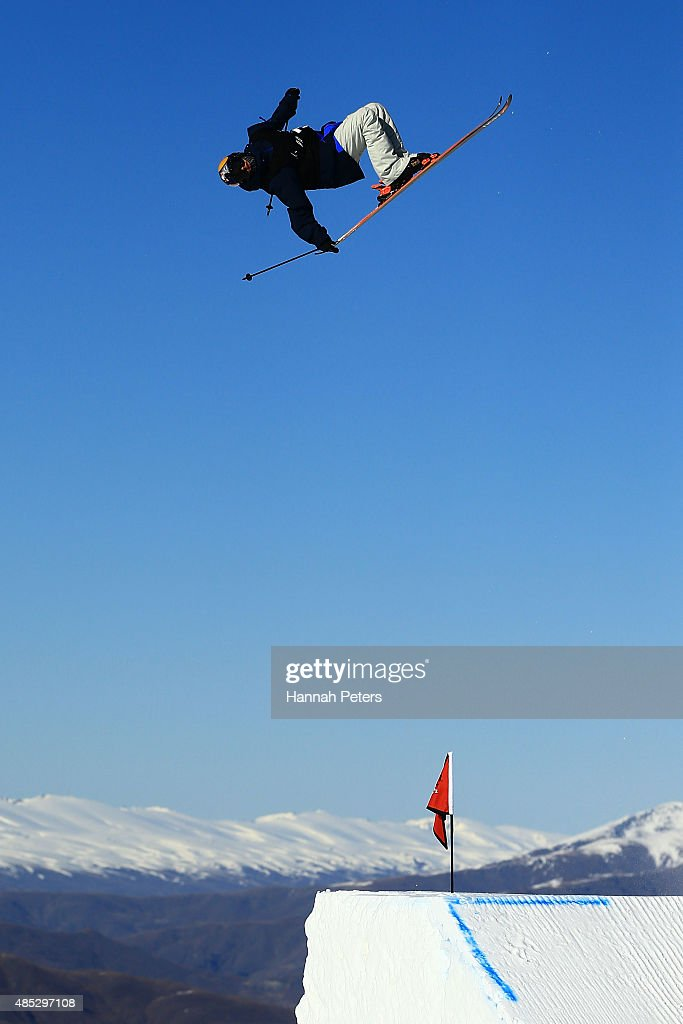 Jesper Tjader of Sweden competes in the FIS Freestyle Ski World Cup Slopestyle Qualification during the Winter Games NZ at Cardrona Alpine Resort on August 27, 2015 in Wanaka, New Zealand.