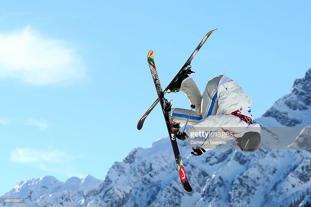 Jesper Tjader of Sweden competes in the Freestyle Skiing Men's Ski Slopestyle Qualification during day six of the Sochi 2014 Winter Olympics at Rosa...