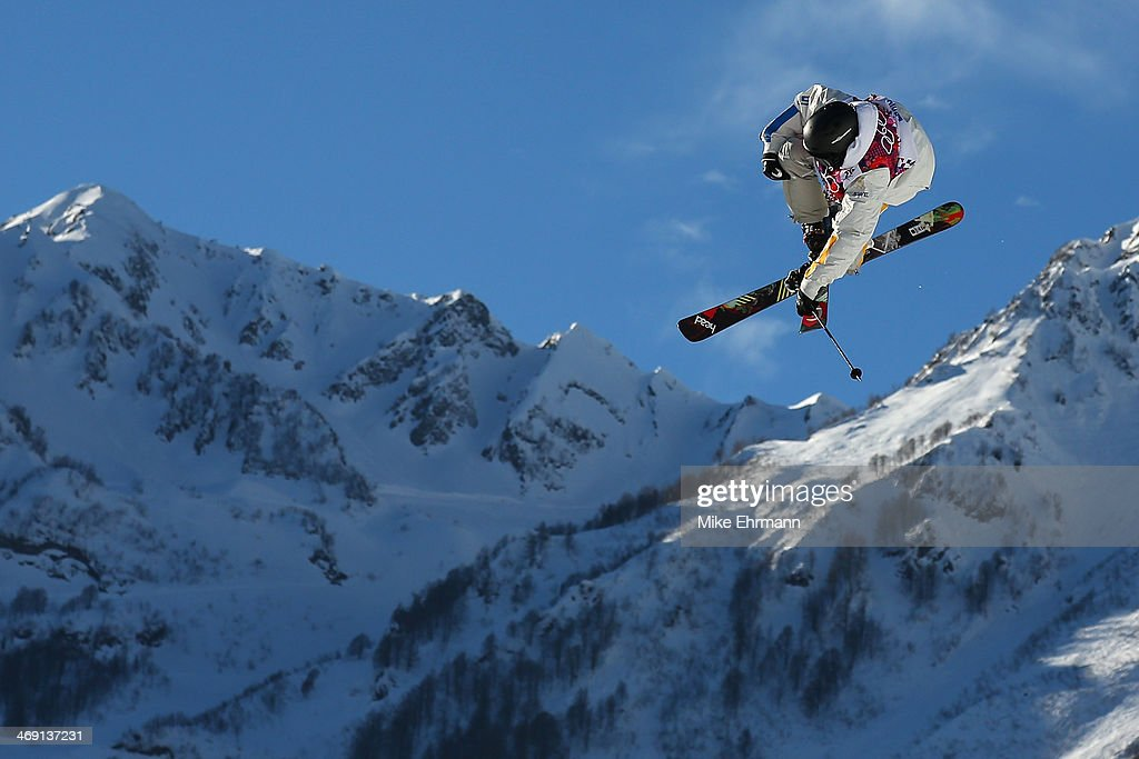 Jesper Tjader of Sweden competes in the Freestyle Skiing Men's Ski Slopestyle Qualification during day six of the Sochi 2014 Winter Olympics at Rosa Khutor Extreme Park on February 13, 2014 in Sochi, Russia.