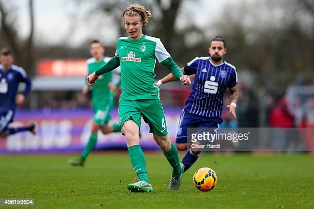 Jesper Verlaat of Bremen in action during the 3Liga match between Werder Bremen II and VfL Osnabrueck on November 21 2015 in Bremen Germany