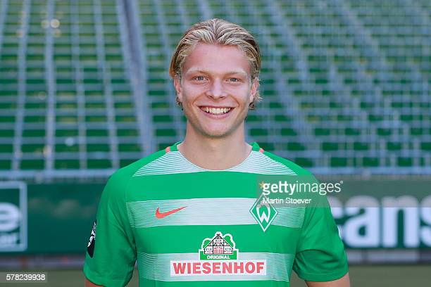 Jesper Verlaat poses during the offical team presentation of Werder Bremen II on July 20 2016 in Bremen Germany