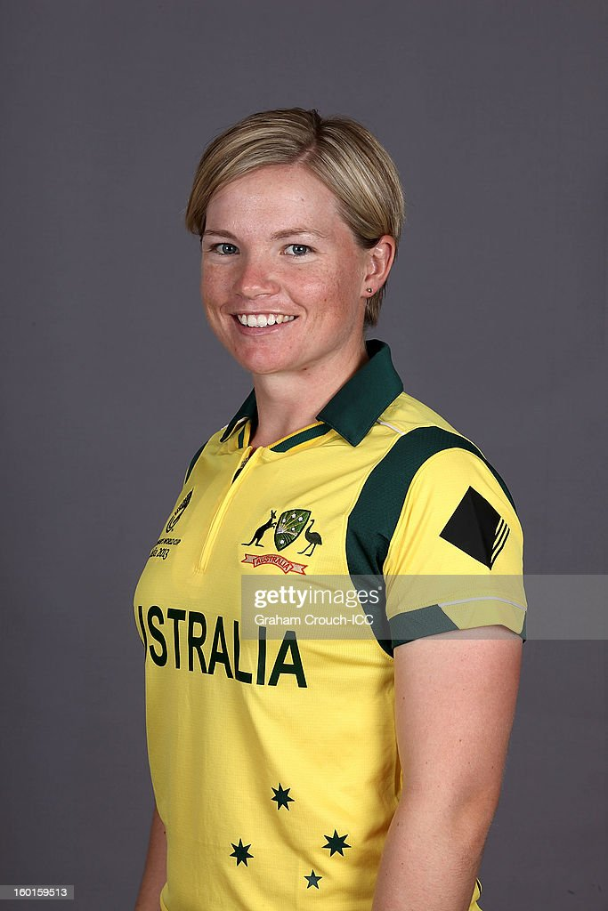 Jess Cameron of Australia attends a portrait session ahead of the ICC Womens World Cup 2013 at the Taj Mahal Palace Hotel on January 27, 2013 in Mumbai, India.