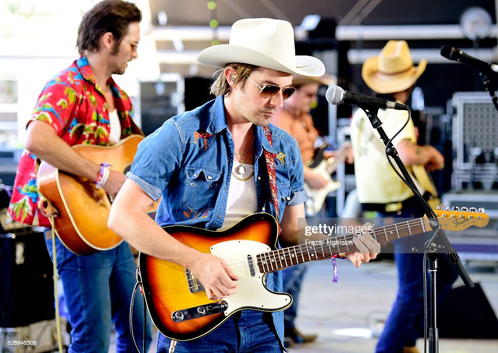 Jess Carson of the band Midland performs onstage during 2016 Stagecoach California's Country Music Festival at Empire Polo Club on May 01, 2016 in Indio, California.