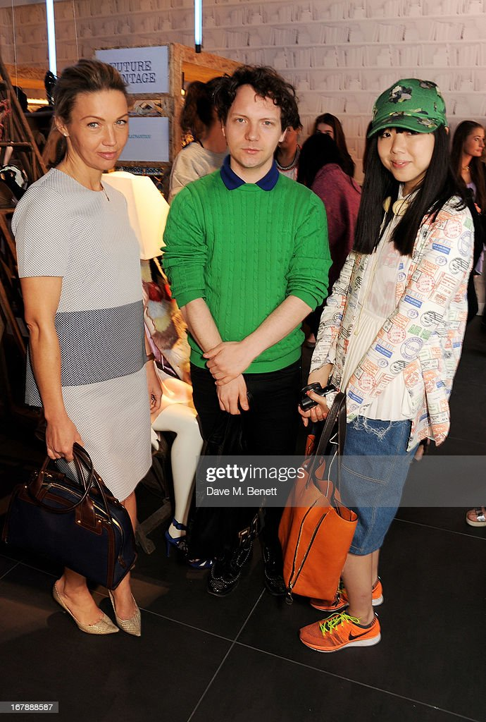 Jess Cartner-Morley, Alex Fury and Susie Bubble attend as Rita Ora launches the British Designers' Collection at Bicester Village on May 2, 2013 in Bicester, England.