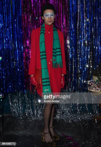 Jess Cole attends the Burberry x Cara Delevingne Christmas Party on December 2 2017 in London England