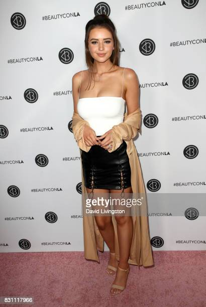 Jess Conte attends Day 2 of the 5th Annual Beautycon Festival Los Angeles at the at Los Angeles Convention Center on August 13 2017 in Los Angeles...
