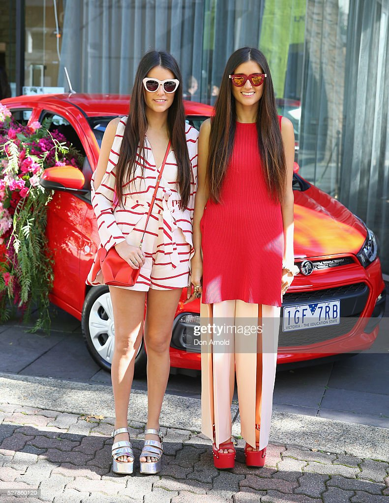 Jess Dadon and Steff Dadon attend the Holden Spark launch brunch on May 4, 2016 in Sydney, Australia.