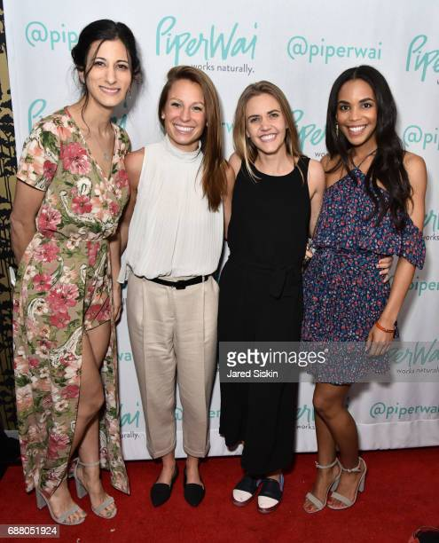 Jess Edelstein Elizabeth Davis Carolyn Rush and Sarah Ribner attend PiperWai NYC Launch Event at Vnyl on May 24 2017 in New York City