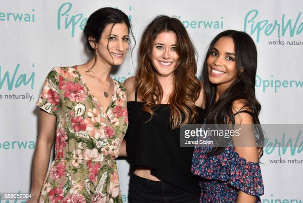 Jess Edelstein Manon Mathews and Sarah Ribner attend PiperWai NYC Launch Event at Vnyl on May 24 2017 in New York City